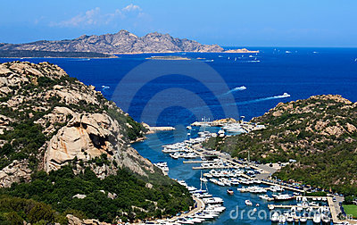 View Above Poltu Quatu, Sardinia