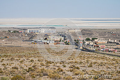 View from above West Wendover, Nevada Editorial Stock Image