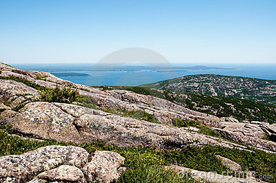 View from Acadia National Park in Maine, USA