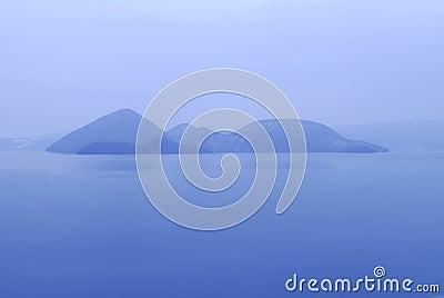 View across Lake Toya, Hokkaido Japan