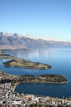 View across Queenstown New Zealand