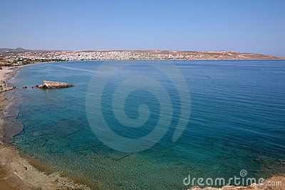 View across Sitia Bay