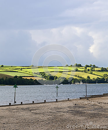Free View Across The River Towy. Royalty Free Stock Photos - 70996578