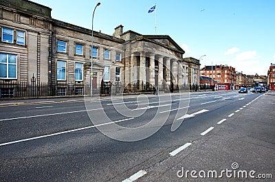 Cityscape of Glasgow, Scotland Editorial Photo