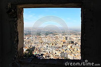 View from the Alcazaba, Alhambra, Granada, Spain