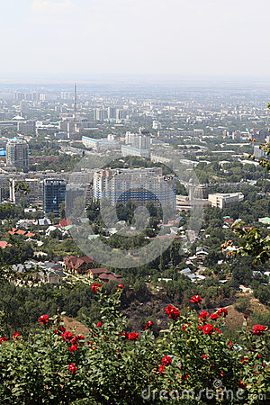 View on Almaty from mount