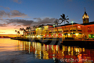 View of Aloha Tower, Hawaii