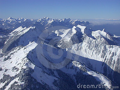 View on the Alps