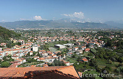 View of Ameglia town