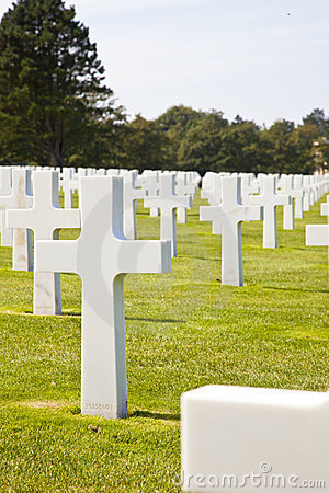 View at American Cemetery in Normandy, France Editorial Image