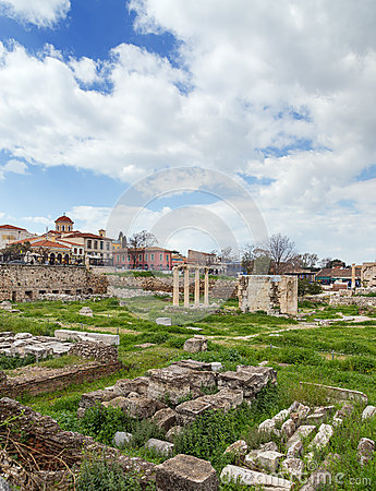 View of Ancient Agora of Athens, Greece