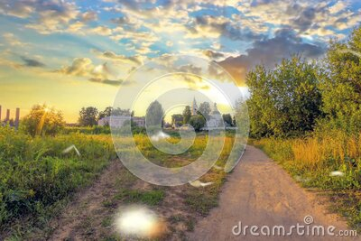 View of the ancient Russian city of the Golden ring Kostroma. Beautiful view of the ancient Russian city of the Golden ring Kostroma stock video footage