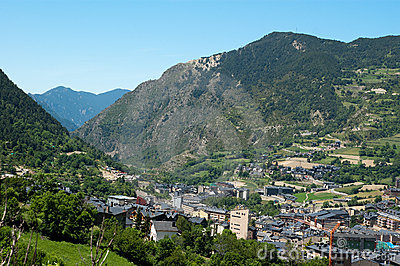 View of Andorra Pyrenees