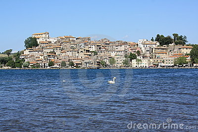 View of Anguillara (Rome, Italy)