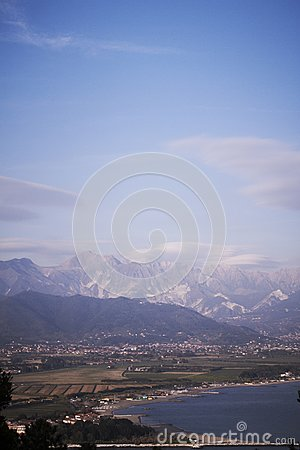 View of the apuan alps