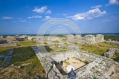 View on archeological site Bribirska glavica