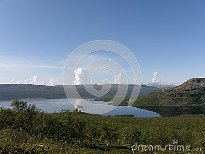 View of arctic Kilpisjarvi lake