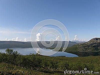 View of arctic Kilpisjarvi lake