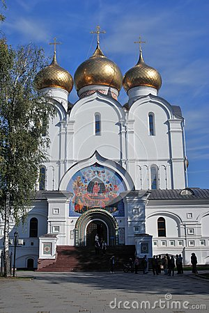 View of the Assumption Church in Yaroslavl, Russia. Editorial Stock Photo