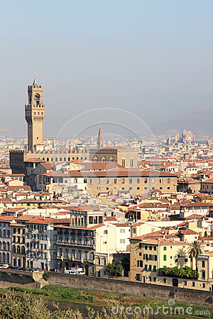 Free View At The Palazzo Vecchio In Florence, Italy Royalty Free Stock Image - 27065766