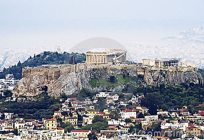 A view of Athens with the Acropolis