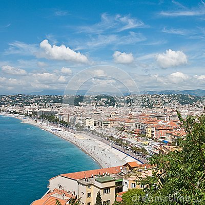 View on Azure coast in Nice