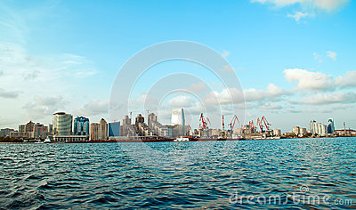 View of Baku from sea