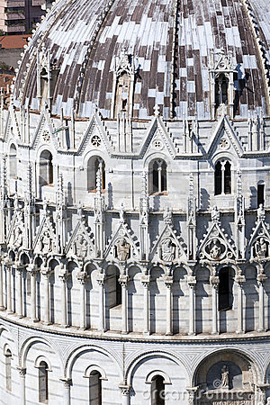 View of the Baptistry of the Cathedral in Pisa