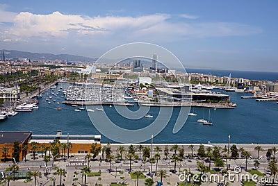 View of Barcelona harbor
