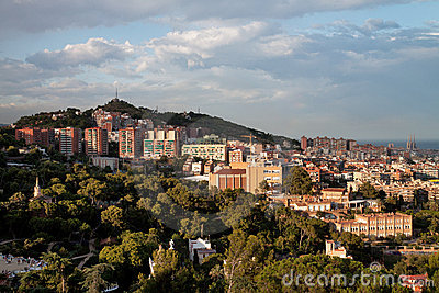 View on Barcelona hills