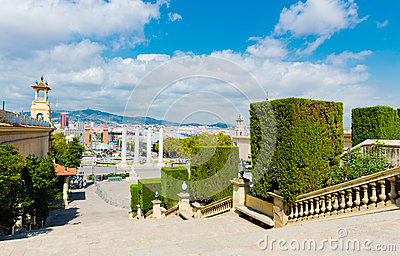 View of Barcelona from  National Palace