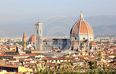 View at the Basilica di Santa Maria, Florence
