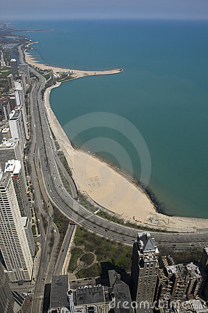 View of Beach in Chicago