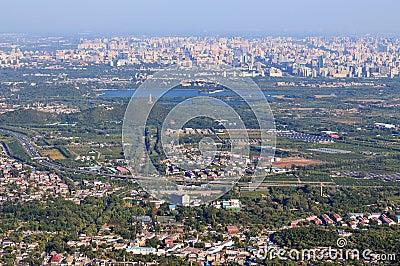 View of Beijing skyline