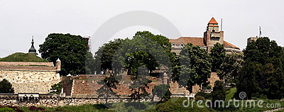 View of the Belgrade  fortress  Kalemegdan Editorial Stock Image