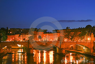 View from Bernini s bridge in Rome