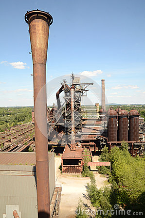 View from the blast furnace