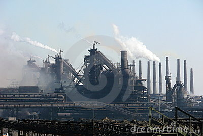View on the blast furnace