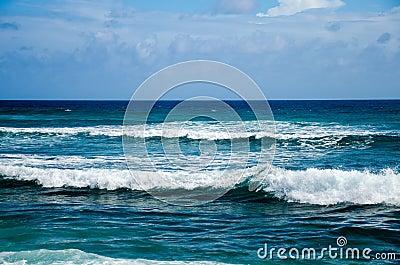 View of Blue Ocean Waves