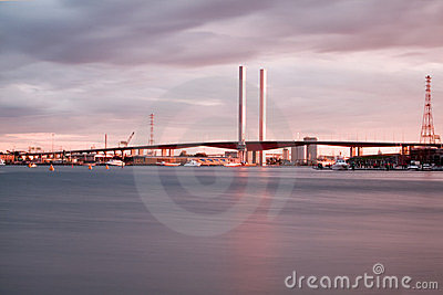 View of Bolte bridge in Melbourne.