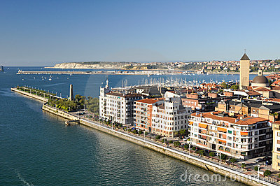 View from bridge of Bizkaia, Portugalete