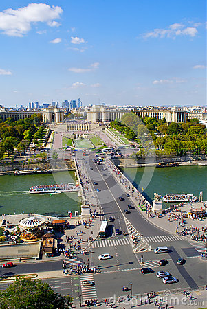 View of the bridge and Trocadero square