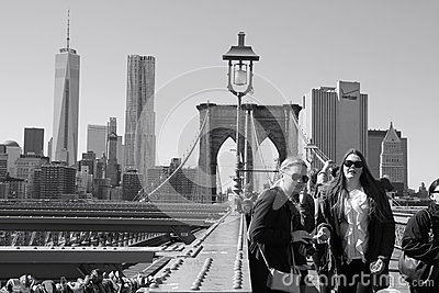 View from Brooklyn bridge Editorial Photography