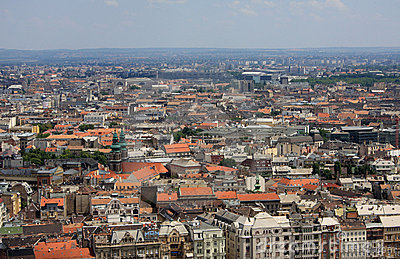 View at Budapest city
