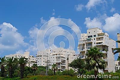 View of  buildings on the Tel Aviv street