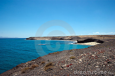 View of caleta del congrio, lanzarote Stock Photo