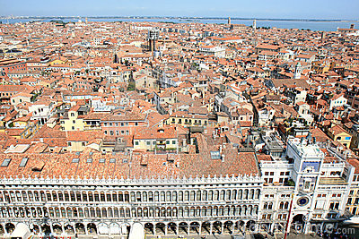 View from the Campanile over Venice, Italy
