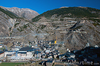 View on the Canillo, Andorra Editorial Photo