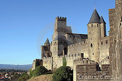 View at Carcassonne castle and surroundings