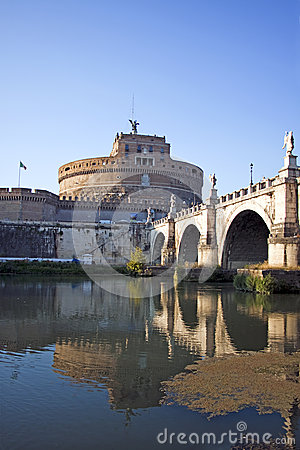 View of Castel Sant Angelo in Rome